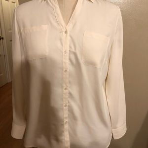 Talbots cream blouse LP